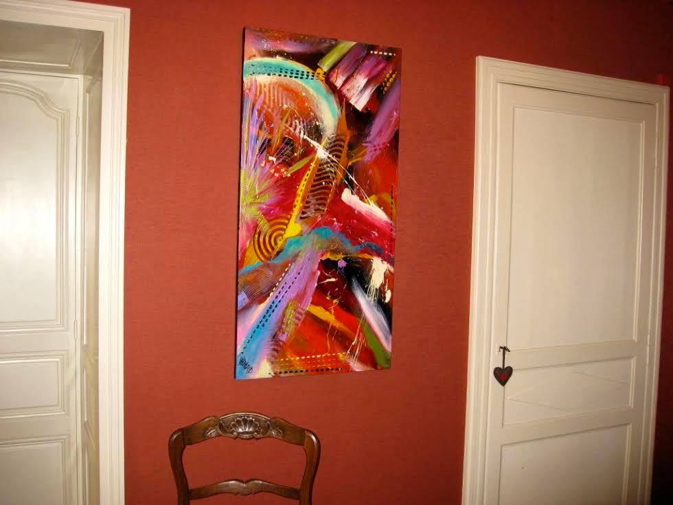 Tableau abstrait contemporain moderne ultra violet for Tableau contemporain